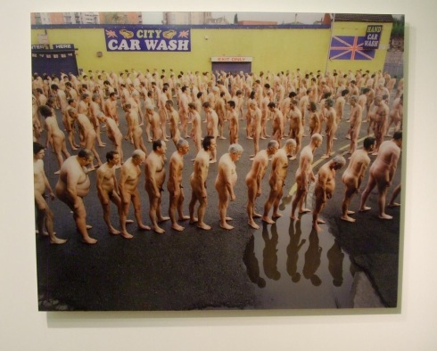 "Spencer Tunick's Car Wash for the Lowry exhibition ""Everyday People"""